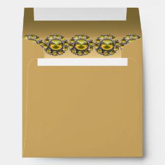 Golden Treasures Bejeweled Wedding Envelope