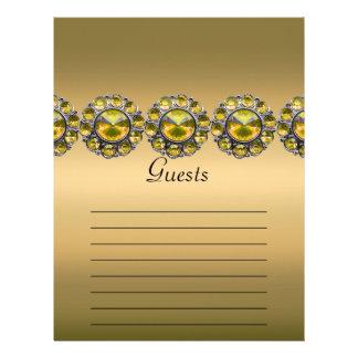 Golden Treasures Bejeweled Wedding Letterhead