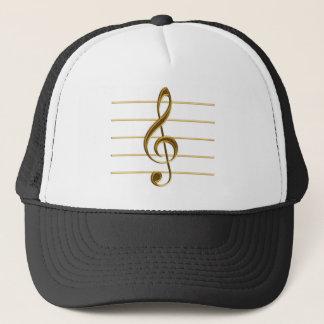 Golden Treble Clef Trucker Hat