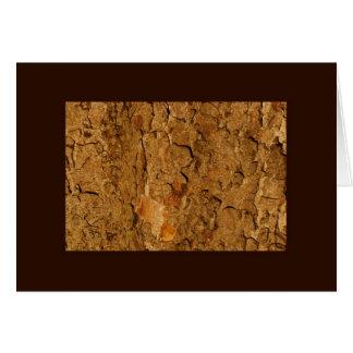 Golden Tree Bark Card