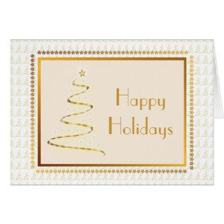 Golden Tree Custom Christmas Card