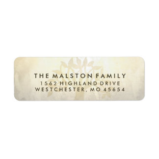 Golden Tree Matching Sympathy Family Address Label