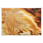 Golden Tree N Clouds Placemat Cloth Placemat