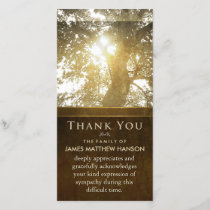 Golden Tree Nostalgia Sympathy Thank You Card