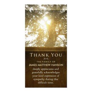Golden Tree Nostalgia Sympathy Thank You Card