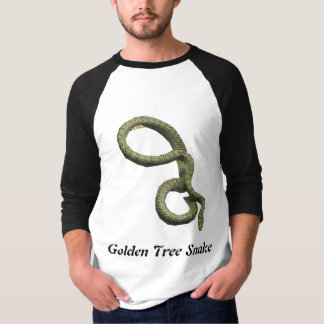 Golden Tree Snake Basic 3/4 Sleeve Raglan T-Shirt