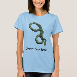Golden Tree Snake Ladies Baby Doll T-Shirt