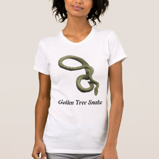 Golden Tree Snake Ladies Casual Scoop Tshirt