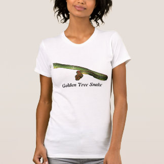 Golden Tree Snake Ladies Petite T-Shirt