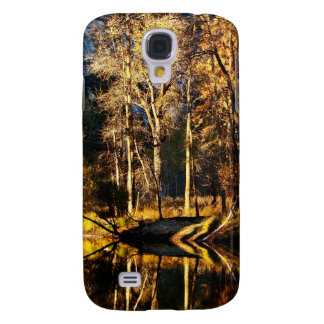 GOLDEN TREES WITH REFLECTIONS IN LATE FALL SAMSUNG S4 CASE