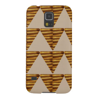 GOLDEN Triangle STRIPS: from VINTAGE Art Case For Galaxy S5