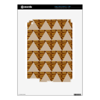 GOLDEN Triangle STRIPS: from VINTAGE Art Decal For The iPad 2