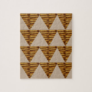 GOLDEN Triangle STRIPS: from VINTAGE Art Puzzles