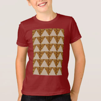 GOLDEN Triangle STRIPS: from VINTAGE Art T-Shirt