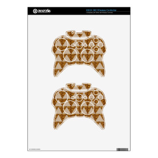 GOLDEN Triangle STRIPS: from VINTAGE Art Xbox 360 Controller Skin
