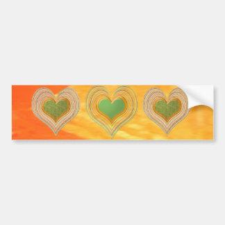 Golden Triangle - Threesome Hearts Bumper Sticker