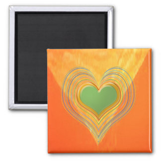 Golden Triangle - Threesome Hearts Fridge Magnet