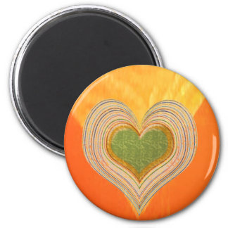 Golden Triangle - Threesome Hearts Refrigerator Magnet