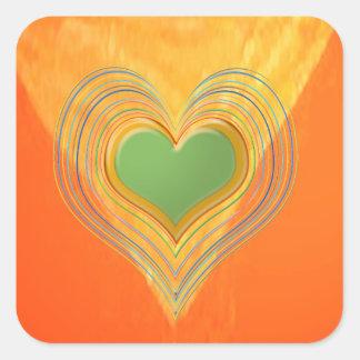 Golden Triangle - Threesome Hearts Square Sticker