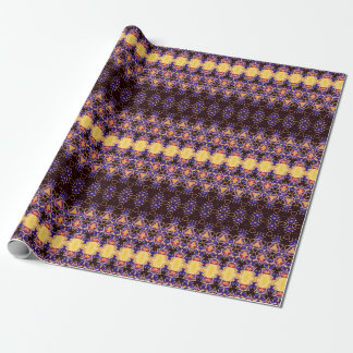 Golden Triangles Pattern Wrapping Paper