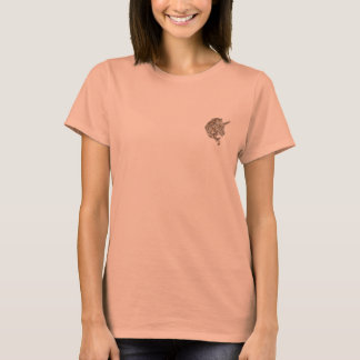 Golden tribal unicorn womens shirt
