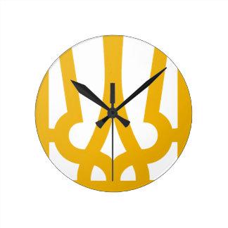 Golden Trident Clock