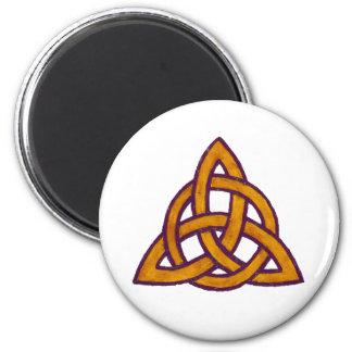 Golden Trinity 2 Inch Round Magnet