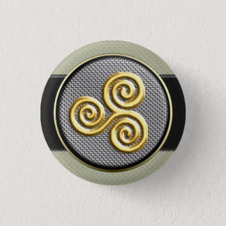 Golden Triskele Pinback Button