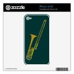 Golden Trombone Decals For iPhone 4