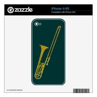 Golden Trombone Decals For iPhone 4