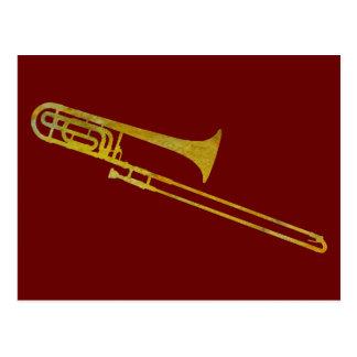 Golden Trombone Postcard