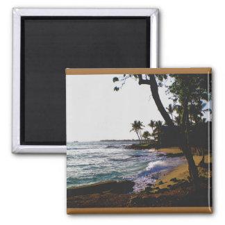 Golden Tropical Island Magnet