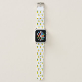Golden Tropical Pineapples Apple Watch Band
