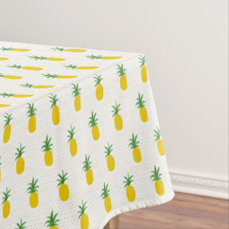 Captivating Golden Tropical Pineapples Tablecloth