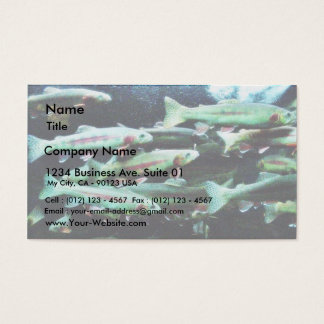 Golden Trout Fish Sea World Business Card