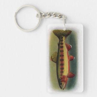 Golden Trout of Volcano Creek Single-Sided Rectangular Acrylic Keychain