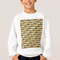Golden Trout pattern in Blue Sweatshirt
