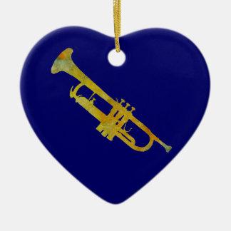 Golden Trumpet Christmas Ornaments