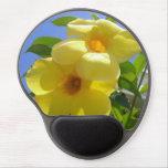 Golden Trumpet Flowers I Gel Mouse Pad
