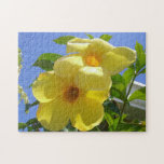 Golden Trumpet Flowers I Jigsaw Puzzle