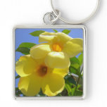 Golden Trumpet Flowers I Keychain