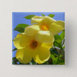 Golden Trumpet Flowers I Pinback Button