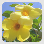 Golden Trumpet Flowers I Square Sticker