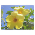 Golden Trumpet Flowers I Tissue Paper