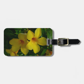 Golden Trumpet Flowers II Tropical Floral Bag Tag