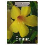 Golden Trumpet Flowers II Tropical Floral Clipboard