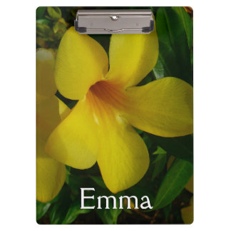 Golden Trumpet Flowers II Tropical Floral Clipboard