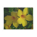 Golden Trumpet Flowers II Tropical Floral Doormat