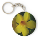Golden Trumpet Flowers II Tropical Floral Keychain
