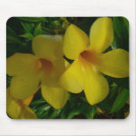 Golden Trumpet Flowers II Tropical Floral Mouse Pad
